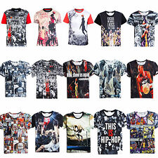 2015 Men/Women Joggers T Shirt 3D Print Basketball Match Star Tops Pants Outfits