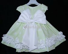 Couche Tot Designer Girls Large Bow Party Occasion Dress 3-24 Mth Romany