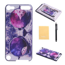 Cool Cute Glasses Cat  Hard Plastic Case Cover for Apple iPod Touch 5 5th Gen