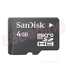 New 4GB San Disk Micro SD + Memory Card Reader FOR HTC PHONE + TABLET SERIES