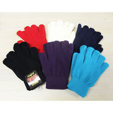 LADIES MENS BOYS GIRLS MAGIC ONE SIZE FITS ALL STRETCH GLOVES MULTI COLOURS