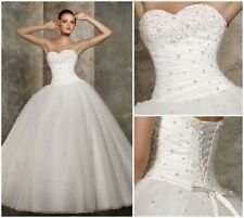2015 New White/Ivory Wedding Dress Bridal Gown Size 6-8-10-12-14-16-18