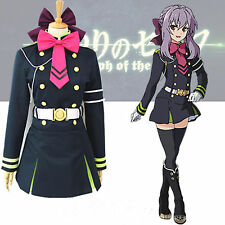 Seraph of the End Shinoa Hīragi military uniform Cosplay Costume dress any size