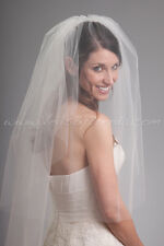 Illusion Tulle Bridal Veil Double Layer, Hand Crafted by VeilsByBrenda.com