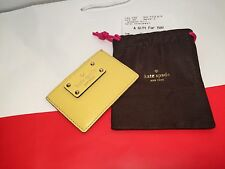 NWT KATE SPADE WELLESLEY GRAHAM MINI WALLET CARD HOLDER LIMONCELLO WLRU1147