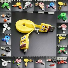 Colorful Cartoon USB Data Cable Charger Cable Sync Cord  for Android Phone