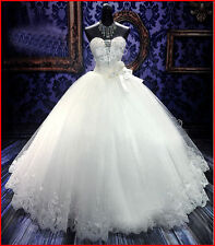 2017 Luxucy Lace up Ball Gown Wedding Dress Wedding Gown Bridal Gown Stock6-16