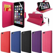 Wallet Book Flip Leather Case Cover iPhone 6G Plus 5.5 inch + Film & Stylus