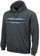 New York Giants NFL Majestic Squib Kick Mens Pullover Hoodie Charcoal Big Sizes