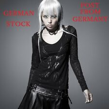 GERMAN STOCK New PUNK RAVE Gothic Rock T-shirt Top Blouse T324 Post from Germany