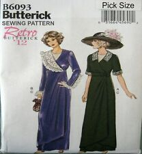 BUTTERICK Retro 1912 Titanic History Gown Dress SEWING PATTERN 6093