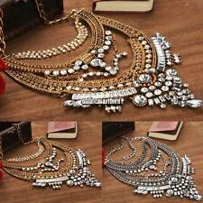 Fashion Jewelry Pendant Chain Crystal Choker Charm Chunky Statement Bib Necklace
