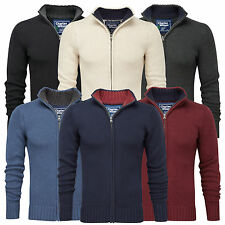 Charles Wilson Men's 100% Cotton Full Zip Jumper Cardigan New 2014