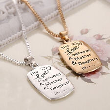 Chic The Love Between A Mother and Daughter is Relationship 2 Platings necklace