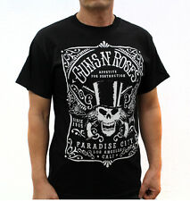 Gun N' Roses Punk Rock Band Embroidered Graphic T-Shirts Paradise City