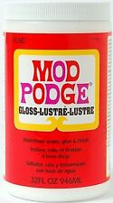 Mod Podge Gloss - Decoupage Sealer Glue Finish - 4oz 8oz 16oz 32oz Water Soluble