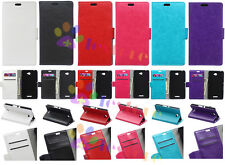 High Luxury Holder Flip Wallet Card Leather Case Cover Fr HTC series 320 626 510