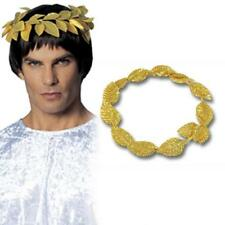 Costume Greek Roman Laurel Wreath Gold Leaf Head Band Toga Party Leaves