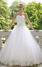 2015 New White Wedding Dress Bridal  Gown stock size 6-8-10-12-14-16#