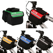Bicycle Cycling Top Tube Saddle Bag Bike Frame Pannier Bag Rack Double Pouch