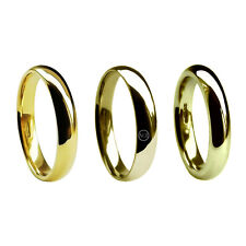 5mm 9ct Yellow Gold Court Comfort Wedding rings 375 UK HM Med Hvy & X Heavy Band
