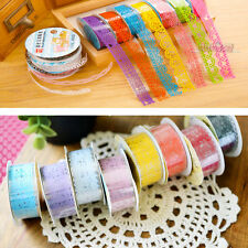 2Pcs Lace Tape Fashion Hollow-Out Lace Tape DIY Photo Album Accessories Tape