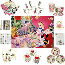 TRULY ALICE in WONDERLAND MAD HATTER VINTAGE TEA PARTY CUPS PLATES DECORATIONS