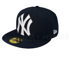 NEW YORK YANKEES New Era 5950 Cap Mighty Stitch Fitted Hat 59Fifty MLB NY Navy