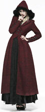 Punk Rave Victorian Goth Gothic Queen of Hearts Riding Coat Frock Red Flare