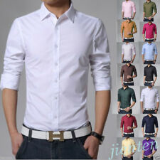 Stylish Mens Casual Button-Down Slim Fit Long Sleeve Casual/Formal Dress Shirts
