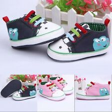 Cute Frog Pattern Baby Boy Girls Canvas Casual Shoes Soft Sneakers Toddler Shoes