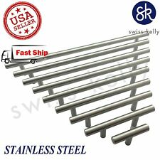 25 Pack New Solid Stainless Steel Bar Pull Handles Cabinet Door Kitchen Drawer