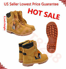 """FREE $2.99 SOCKS GIVEAWAY Kingshow Men's Leather 8"""" Winter Snow Work Boots 1065"""
