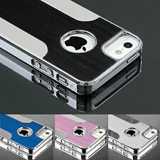 PC Aluminum Shockproof Dirt Proof Hard Cover Case For iPhone 5 5S+Screen Film
