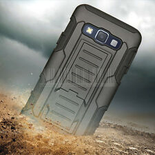 Rugged Armor Hybrid Protective Hard Case Cover Holster For Samsung Galaxy A5/A3