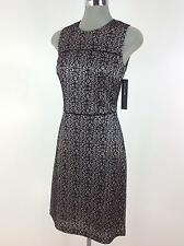 Andrew Marc New York NEW Slimming Sexy Black Lace mesh design dress size 4 8 10