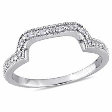 Amour Sterling Silver Diamond Accent Contour Band Ring