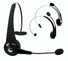 Wireless Bluetooth Headset Headphone w/Boom Mic For PS3 PC Laptop Cell Phones