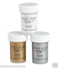 EDIBLE GLAZE BY BAKERY CRAFTS 20g  LUSTER DUST U PICK Gold Silver Pearl