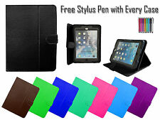 "Universal PU Leather Folio Smart Stand Case Cover For All 10"" iPad Tablets PC UK"