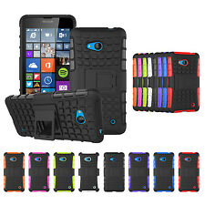 Hybrid Hard Rugged Grip Armor Stand Cover Case For Microsoft Nokia Lumia 640 435