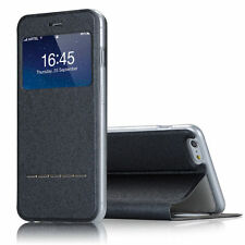 Smart Cover Front View Window Flip Leather Case For iPhone 6 4.7 Plus 5.5 5 5s