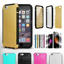 For Apple iPhone New Rugged Dirty Dust Shockproof Case Cover w/ Built in screen