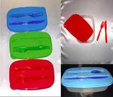 SALAD TO GO-Lunch, Fork, Dressing cup, Plastic bowl container Fast Shipping!