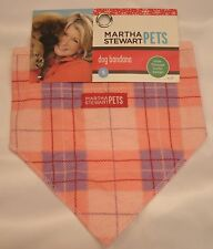 Martha Stewart Pets Dog Bandana - NEW with TAGS - Pink Plaid Slide