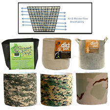DIRT POT PLANTERS GROW CONTAINER AEROPONIC HYDROPONIC FABRIC AERATION BAG SACK