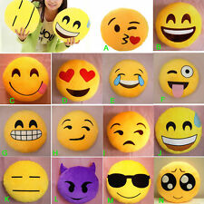 Hot Toy Emoji Smiley Emoticon Yellow Round Cushion Pillow Stuffed Plush Soft EM