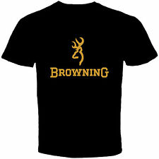 New Browning Logo Hunter MEN'S BLACK T-SHIRT SIZE M L XL 2XL 3XL