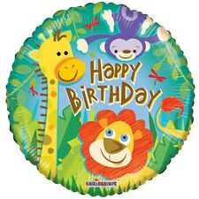 Kids Foil Birthday Balloon Zoo Animal Party Happy Birthday Inflatable Lion Monke