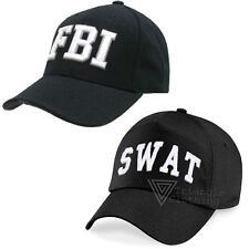 Cap Hat SWAT FBI Embroidered Military Fancy Dress Police Undercover Boss Unisex